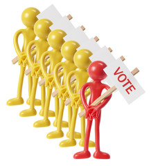 Voting Concept with Miniature Figures