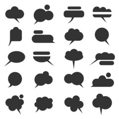 Vector set of various bubbles for speech