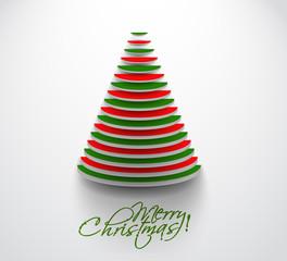 3d christmas tree, design, vector illustration.