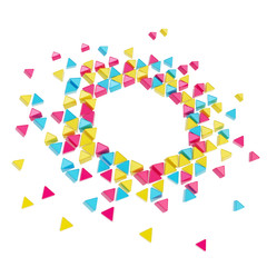 Abstract copyspace hexagon frame background isolated