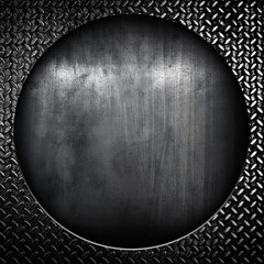 round metal background