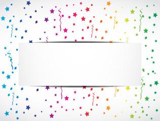 rainbow confetti festive banner