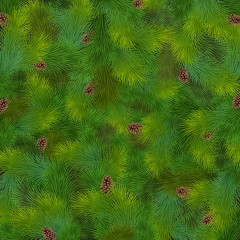 Wall Mural - Christmas fir tree texture