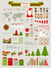 Wall Mural - Christmas Infographic set