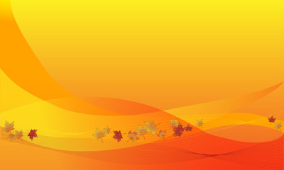 Abstract orange color fall background