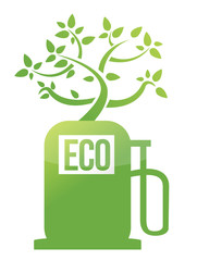 eco tree gas pump illustration design