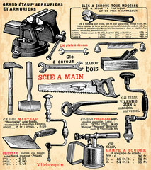 Wall Mural - Outils