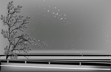 grey tree near road