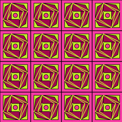 Fototapeten Illusion pattern 1