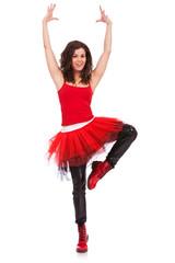 ballerina in a pirouette position