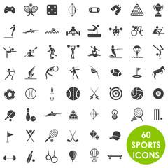 Sports icons basics vector