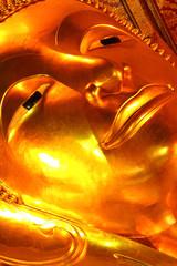 Face of reclining Buddha, Thailand