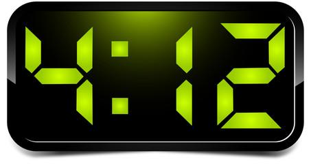 Green digital clock
