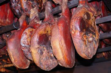 Prosciutto hams