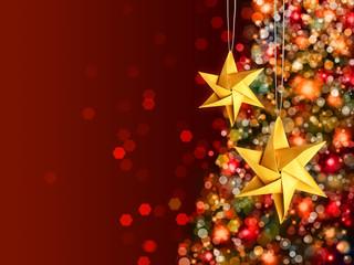 Christmas celebration golden stars