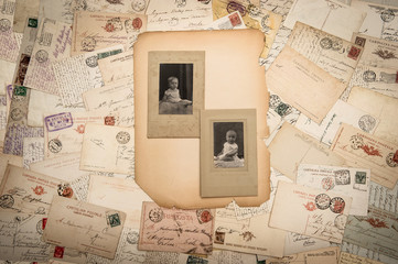 vintage photographs and old postcards