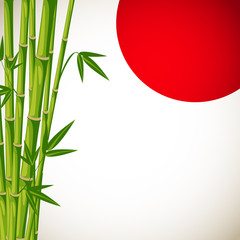 Japan vector background with bamboo