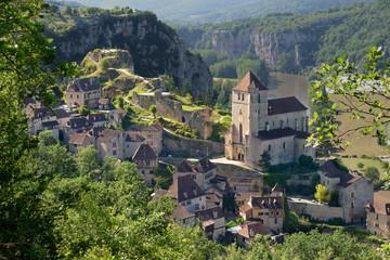 Saint-cirq-Lapopie, un des Plus Beaux Villages de France Wall mural
