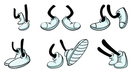different legs with shoe