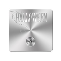 Metal Halloween button.