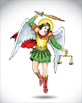 Angel Michael the Archangel - vector illustration