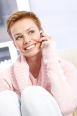 Attractive female talking on mobile