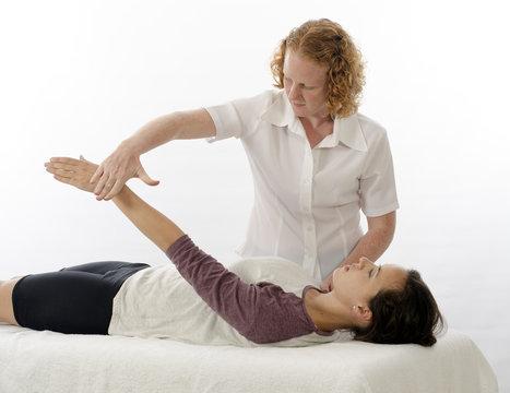 Kinesiologist treating Supraspinatus