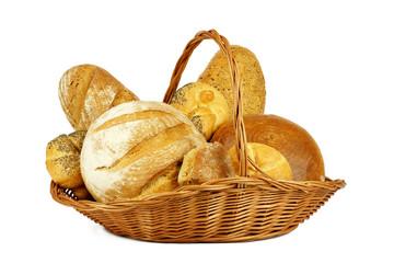 Fototapeta Chleb w koszyku obraz