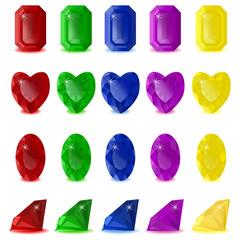 set 2 of precious color stones
