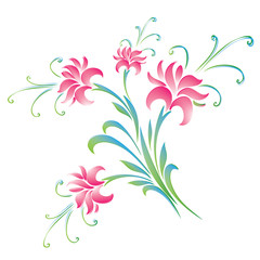 Colorful flowers background - vector illustration