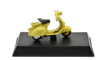 Yellow Vespa model 125, memory of Rome