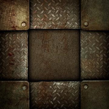 rusty iron template