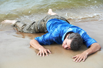 drowned man Fototapete