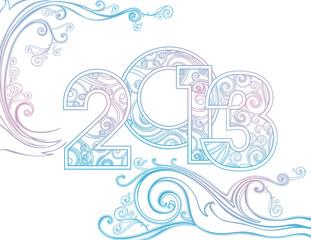 Foto op Aluminium Hemel new year 2013