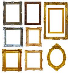 Set of  gold picture frame