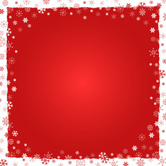 New Year (Christmas) background with snowflakes border