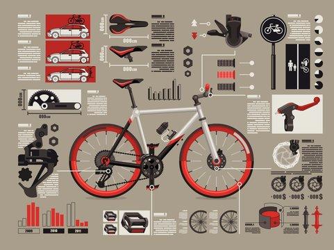 bicycle info graphics,