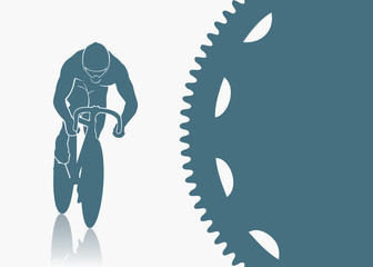Track cycling background - vector illustration