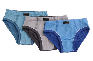 Childrens underwear isolated