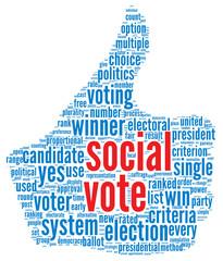 Social media vote concept