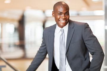 cheerful african american business executive