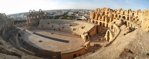 Foto auf Gartenposter Tunesien El Djem Amphitheatre panorama