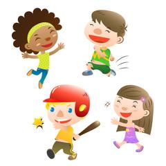 cute kids playing