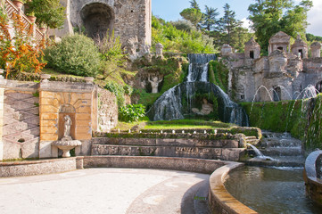 Rometta's Fountain in villa d'Este in Tivoli in Italy