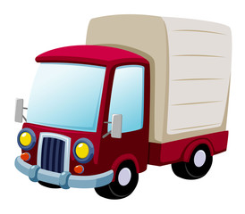 illustration of cartoon truck Vector