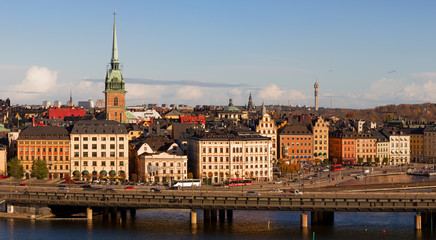 Stockholm Old Town Panorama.