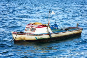 Small fishing boat in the bay of Havana