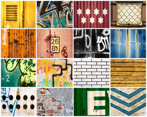 Printed kitchen splashbacks Graffiti collage Backgrounds
