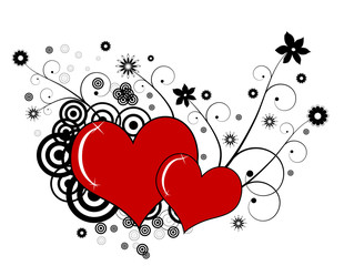 Abstract valentines background.