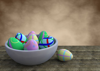 Bowl with ester eggs